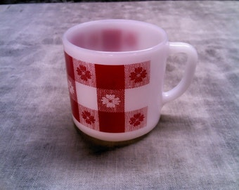 Federal Glass Heat-Proof Cup  (Milk Glass Coffee Cup)