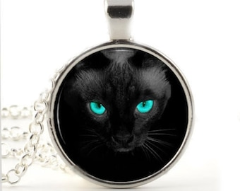 Holiday Sale, Very Beautifu Black Cat , Alloy, with Organza Cord, Full Moon, I love My Cat, Gift for Kid