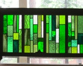 Green Stained Glass Reclaimed Wood Window