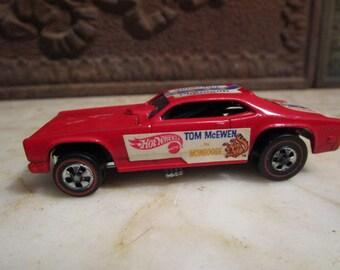 Vintage '1969, Hot Wheels, Tom McEwen, 'Mongoose' funny car with redline wheels!