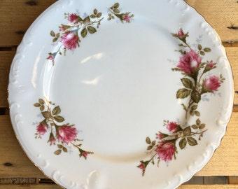 Vintage Royal Rose Dinner Plates Moss Rose Fine China Japan Set 6 - #5507