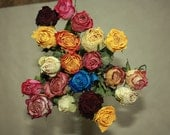 20 Natural Dry Roses - Natural Color - old country roses - Roses for Weddings, Luck, Love, Romance and all other Matters of the Heart