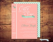 Printable Storybook baby shower Invitation / Once Upon A Time (digital file) DIY print on your own