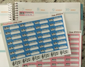Piano Planner Stickers - EC Planner Stickers - 0024