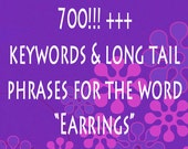 Reserved for Lonna  700+  - Jewelry Tags - Etsy Shop Help  - SEO Keyword - SEO Titles - Improve SEO - Listing Help