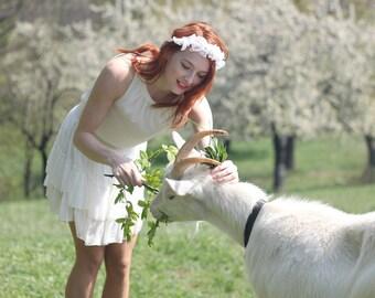 Lace Headband - Bridal Wreath - Flower Wreath - Bridal Headpiece - Bridal Headband - Pearl Hair Vine - Floral Headpiece - Wedding Headpiece