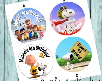 Peanuts Movie Labels- Printed and Shipped to You!