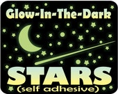 Glow in the Dark Stars & Moon for Kids Bedroom / Ceiling Stars / Glow Stars / Stars for Ceiling / Ceiling Art / 10 HOUR GLOW!!