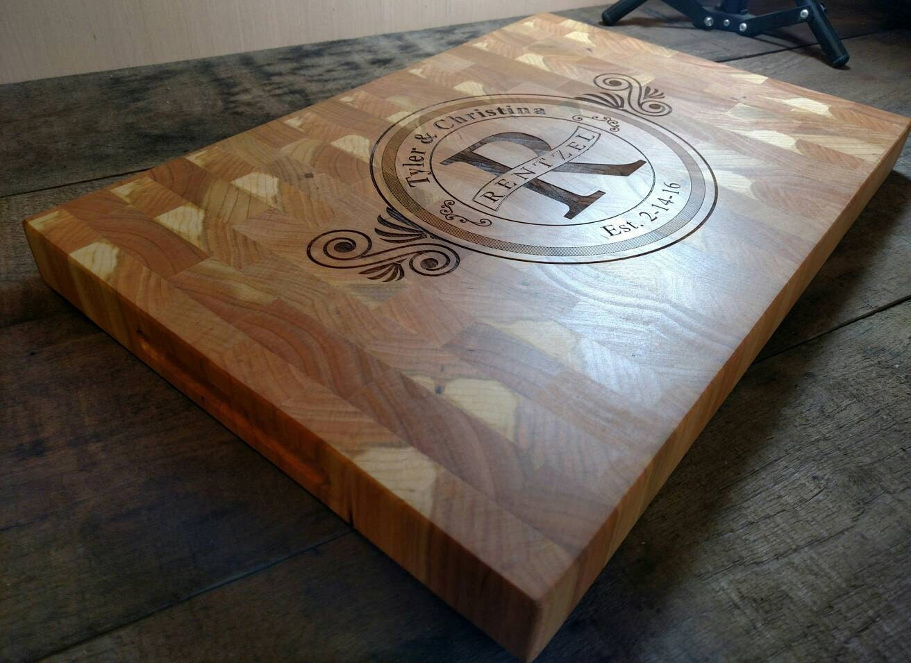 Personalized Engraved Cutting Board Wedding Gift House Warming