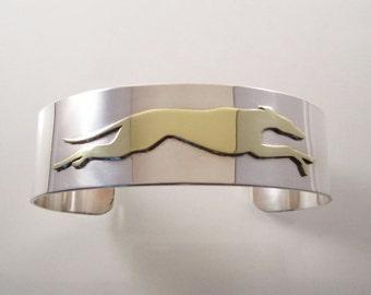 Greyhound Running Cuff Bracelet