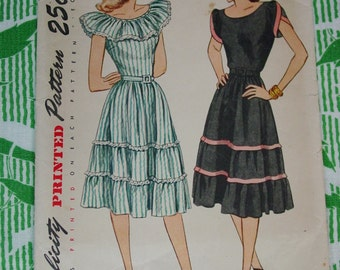 Vintage Pattern c.1947  Simplicity No.1926 Dress, Size 12