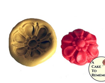 Flower mold,  medallion silicone mold for cake decorating, cupcake decorating, polymer clay or resin. M095