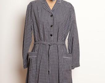 French antic grey work dress 1930