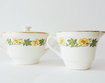 Vintage Spring Floral Cream & Sugar Set