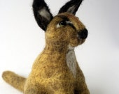Needle Felted Caracal Cat