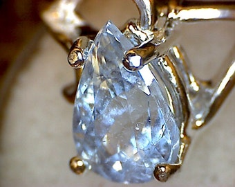 Beautiful Blue Aquamarine Ring