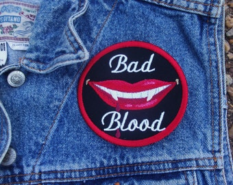 Bad Blood embroidered patch