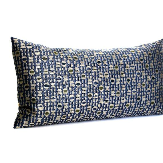 Blue Lumbar Throw Pillow : 12x16 Lumbar Pillow Cover Blue Pillow Decorative Pillow Stripe