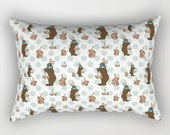 Rectangular Throw Pillow, Parisian Chocolate Bunnies
