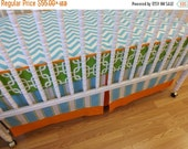 SALE--VALENTINES SALE---- Bumperless Crib Bedding-  Made to Order-  Boy Bedding