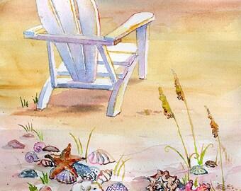 Seaside Chair on water's edge.