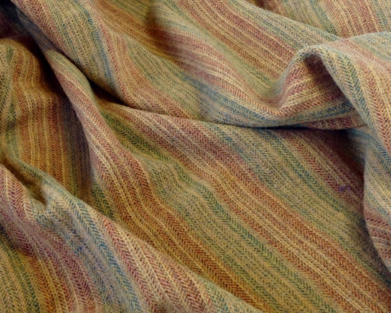 Golden Summer Stripe, Wool Fabric for Rug Hooking and Appliqué, One yard, Half Yard, Quarter Yard, W135, Mill Dyed Wool Fabric