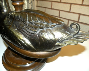 Vintage Brass Duck Lamp- Water Birds- Masculine Guy Hunting Top Selling Items Most Sold Items Top Selling Shops Popular Items Best Seller