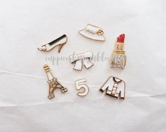 7pcs - White Fancy Kitschy Designer Alloy Charm Set Decoden Mix (10-20mm) CH10035
