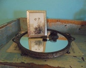 Pretty mirrored dresser tray made by the Irice company