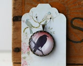"""Raven Crow Vintage Inspired Brass and Glass Bubble Necklace (#53) - """"Rozie Series"""""""