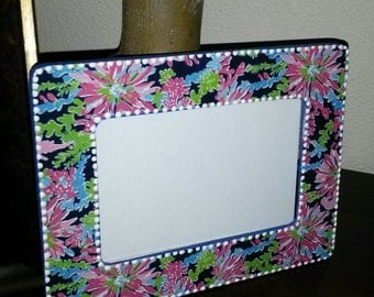 Lilly Pulitzer Inspired Picture Frame SIPPIN AND TRIPPIN Sipping & Tripping opTIONAL MoNOgraM Holds 4x6 by Mama Duck Creations