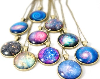 Galaxy Glass Dome Pendant Necklace - Holiday Gifts Ideas - FREE WORLDWIDE SHIPPING