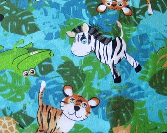 Baby Flannel Burp Cloths Jungle Animal