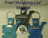 """Aldi Coin Keeper Key Chain, Key Chain or Swivel Clip, with Free """"Shopping List"""" Magnet"""