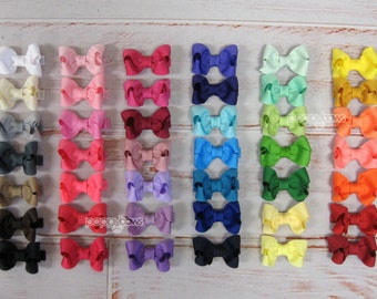 5 PACK Baby Hair Bows - girls hair bows - toddler hair bows - baby hair bows - little girl hairbows - 2 inch bows - small hair bows boutique