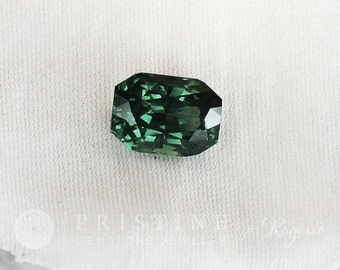 Blue Green Sapphire Radiant Cut 2.62 CTS for Engagement Ring September Birthstone