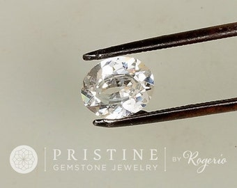 White Sapphire Diamond Alternative Over 2 carats Oval for Engagement Ring or Wedding Anniversary Ring