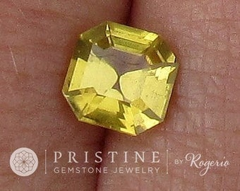 Asscher Cut Yellow Sapphire for Engagement Ring, Anniversary Ring, or Fine Gemstone Jewelry September Birthstone