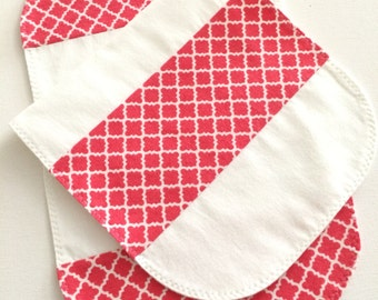 Colorful Baby Burp Cloths, Baby Gift Set, Flannel Burp Rag, Set of Burpcloths