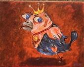 Ego bird acrylic  painting