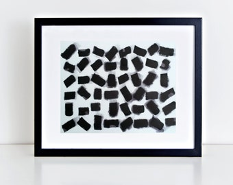 """Minimalist urban view, abstract black and white, zen art / 9x12"""" / by Nader Shenouda"""