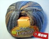 Alpaca yarn Lanoso Alpacana Super Fine Print. Alpaca blend Yarn, 100g skein. Multicolor in earth colors. Col. 801