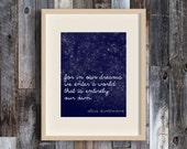 In Our Dreams - Harry Potter themed art - HP Quotes - HP Fan Art - Stars - Literary Gift Idea - Book Lover - Dumbledore Quotes