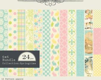 """Authentique Paper """"Springtime"""" Collection 6x6 Pad"""