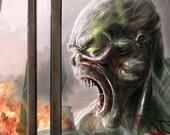 Zombie - Original 4x6 or 8x10 Digital Print by Mark Beer