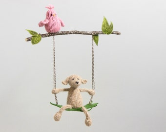 Modern Baby Mobiles Fiber Sculptures Knit By Sweetbauerknits