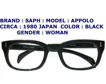 in mate eyeglasses / prison eyeglasses /1950 eyeglasses / retro style eyeglasses / acetate 1980 eyewear /