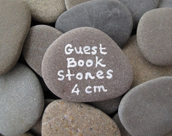 50 Wish Stones Flat Rocks Guest Book Stones Beach Wedding Decor Wishing Stones Message Rocks Memorial Rocks Craft Stones - 1.5 inch