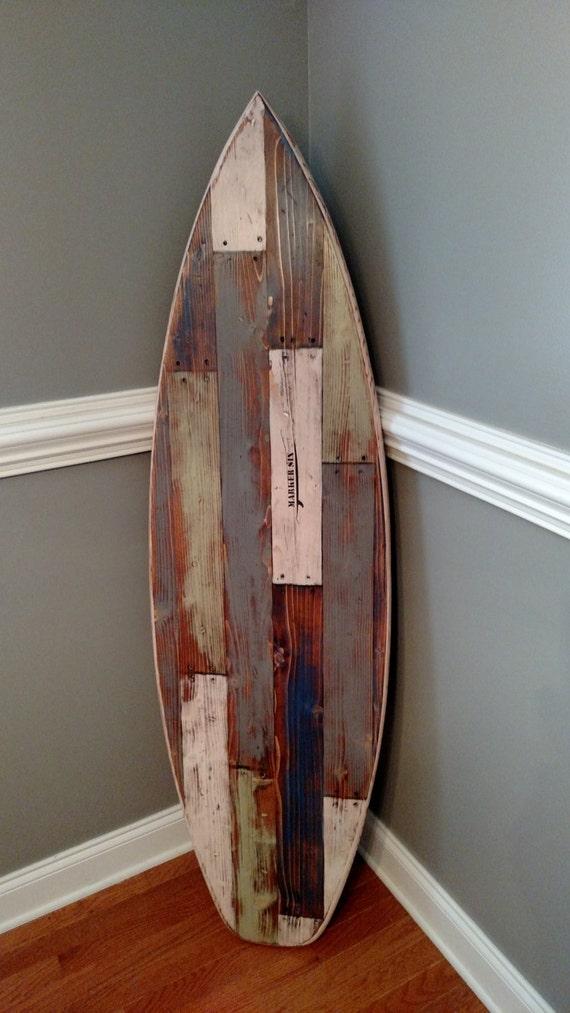 Faux Pallet Wood Surfboard Wall Hanger Headboard 62 Inches
