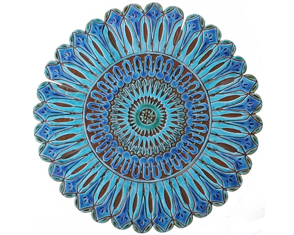 52cm ceramic tile with moroccan design 52cm circle outdoor